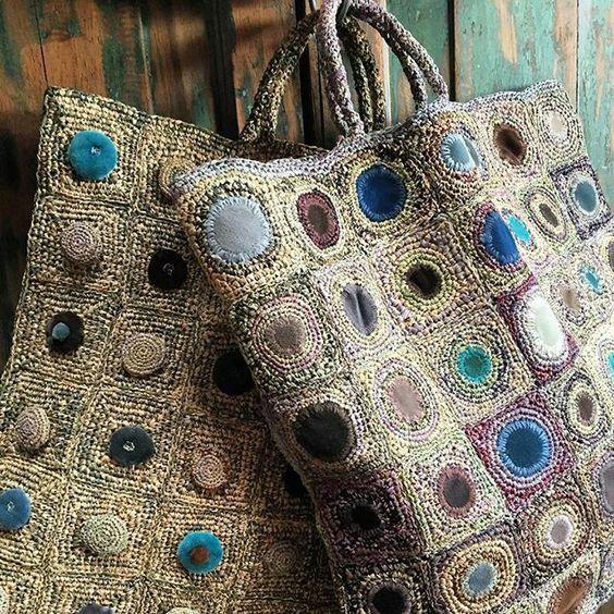 Sophie Digard crochet and velvet bags