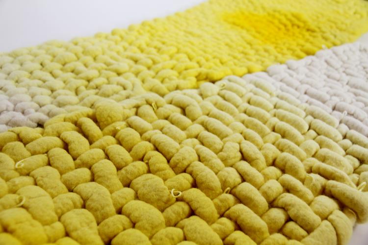 Pia Wustenberg Studio woven swing yellow detail