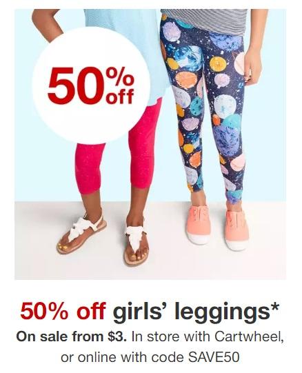 5748ec8542836 Target: Half Off Girls' Leggings – Grab Some for $3! – Wear It For Less