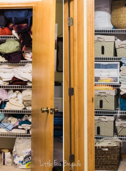 Organized: The Linen Closet