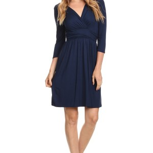 Nursing Dress Navy Blue
