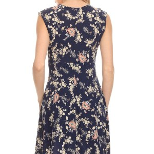 Nursing Dress Blue Flowers Back