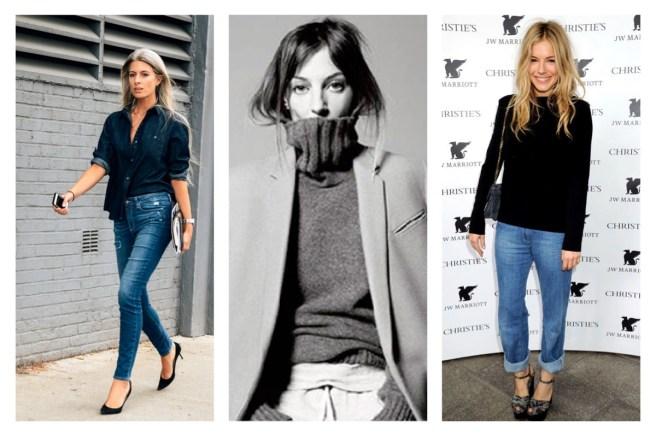 style icons Sienna Miller, Phoebe Philo, Sarah Harris