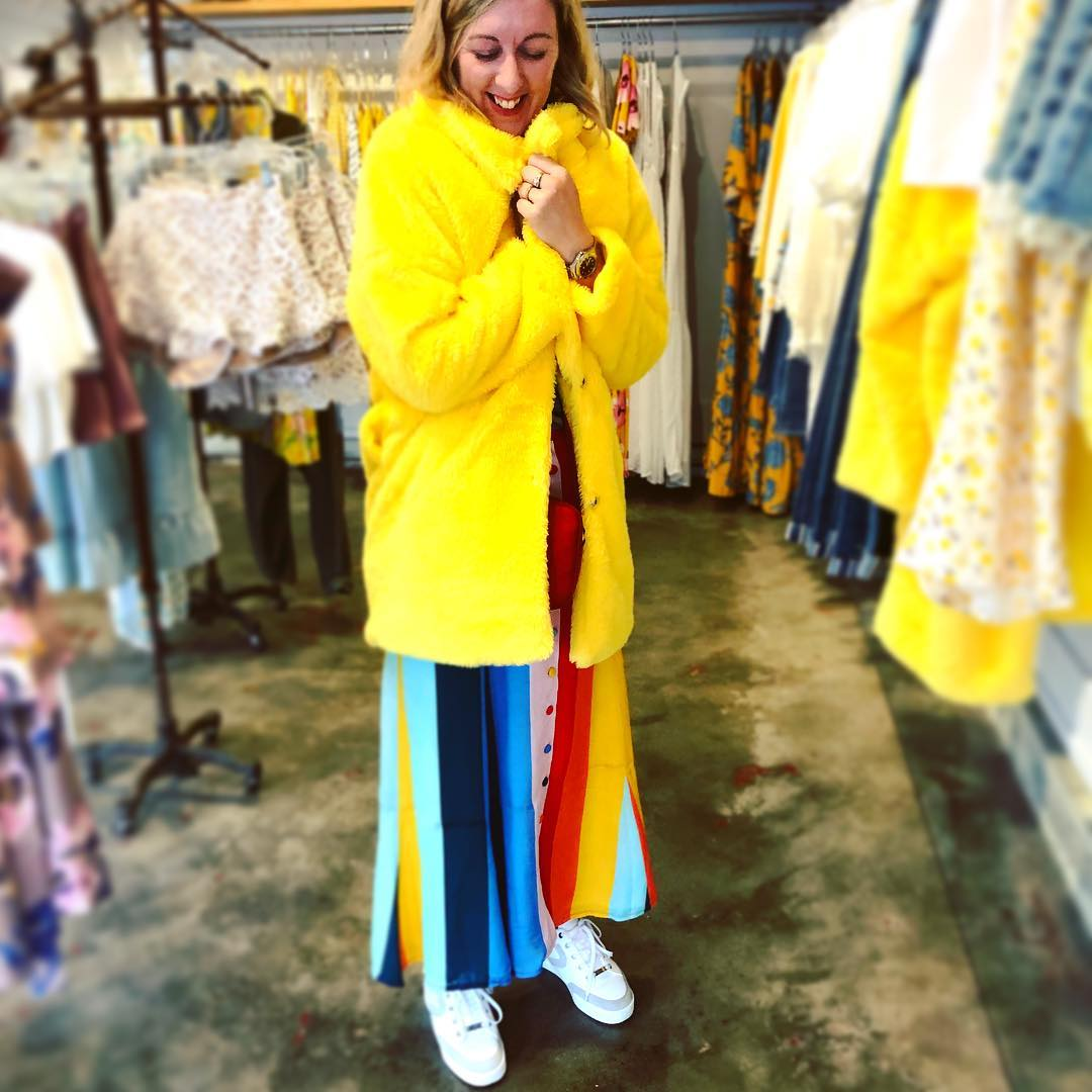 I tried this 'Big Bird' Coat on yesterday, But I sensibly walked away. Now I'm wondering whether I made a mistake? It's ridiculous, I don't need it. I would probably hardly wear it. But it was a HAPPY Coat