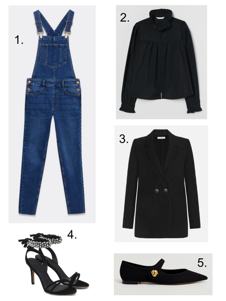 new look dungarees and ballet pumps