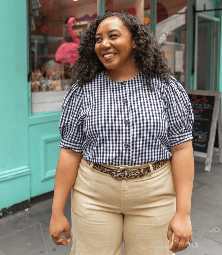 The lovely Nicole O'Cran showing you how to style a Gingham Blouse