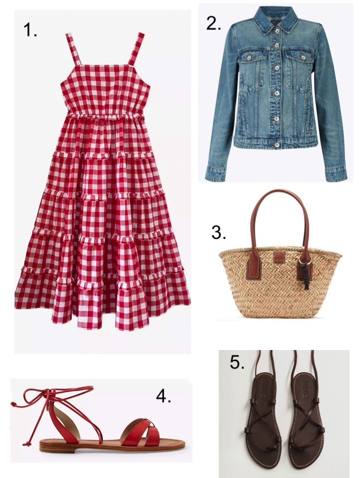 sandals and gingham sundress
