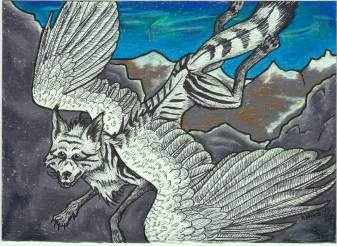 "Falcolf's Post Card 5"" x 7"" Art Trade Colored Pencil Jan 2015 (?)"
