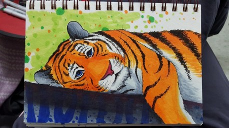 """Tired Copic Markers on Strathmore Watercolor Paper 5"""" x 7"""""""