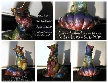 Oshama the Rainbow Kitsune Sculpt Copyright Windstone Editions and M. Pena