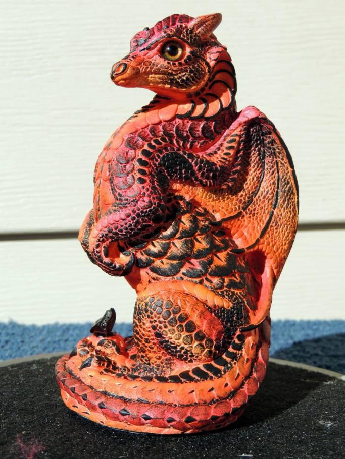 Lava the Small Dragon Sculpt Copyright Windstone Editions and M. Pena