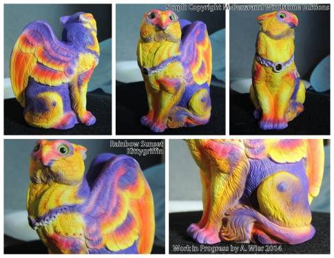 Rainbow Sunset Kittygriff Sculpt Copyright Windstone Editions and M. Pena