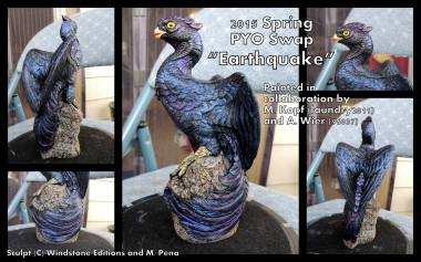 Earthquake the Pheonix Sculpt Copyright Windstone Editions and M. Pena