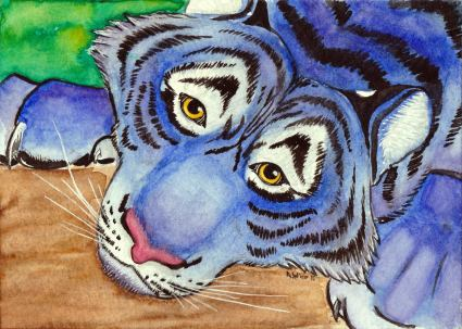 """Wistful and Weary"" W&N Watercolor on Strathmore 400 Series Coldpress Watercolor Paper 5"" x 7"""