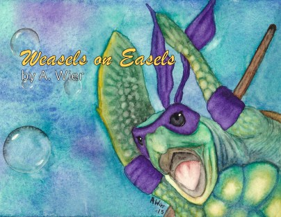 "Ninja Sea Turtle 5"" x 7"" Watercolor on Strathmore Watercolor Paper"