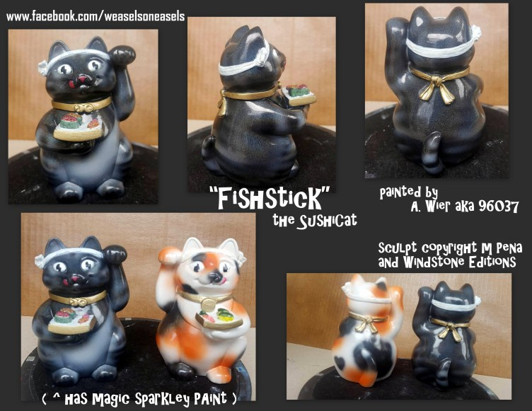 Fishstick the Male Sushicat Sculpt Copyright Windstone Editions and M. Pena