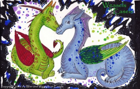 "Together Copic Markers on Strathmore Watercolor Paper 5"" x 7"""