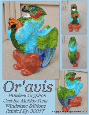 Or'Avis the Griffin Sculpt Copyright Windstone Editions and M. Pena