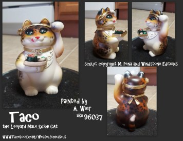 Taco the Male Sushicat Sculpt Copyright Windstone Editions and M. Pena