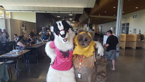 Furry meets Ewok at Sandemonium!