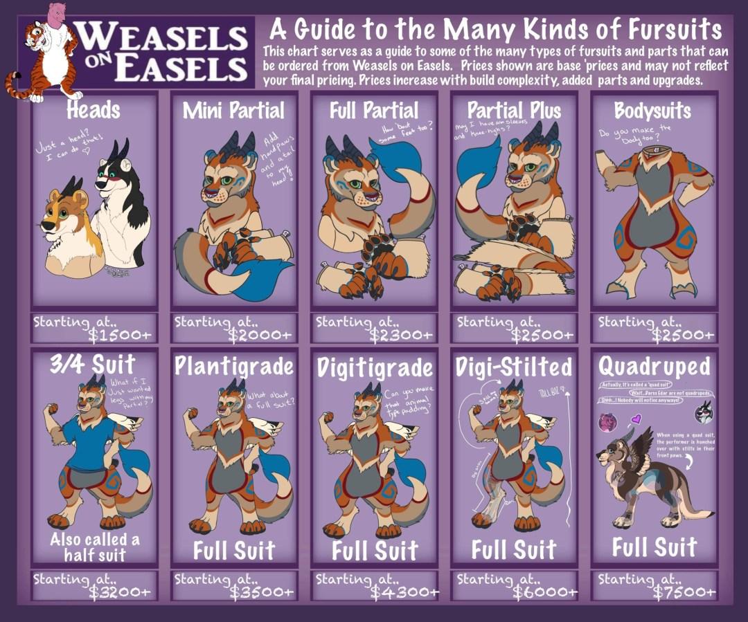 Fursuit Type Chart
