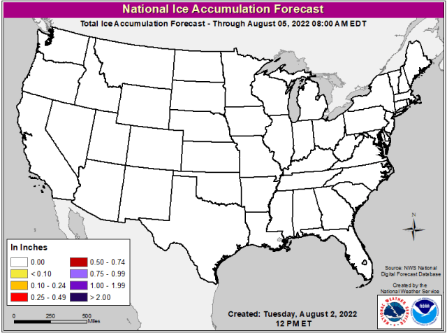 NDFD Snow and Ice Forecasts