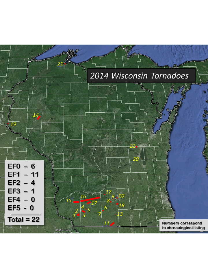 Midwest Tornadoes Across