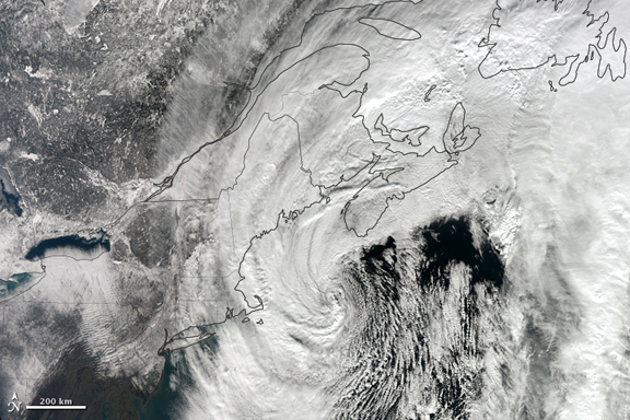 The northeastern Blizzard of 2013, as seen from Space