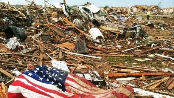 A field of debris from Monday's EF-5 Tornado in Moore, OK.