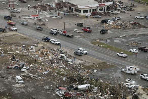 Tornado ravaged Vilonia, Arkansas.  Image Credit: EpochTimes/AP