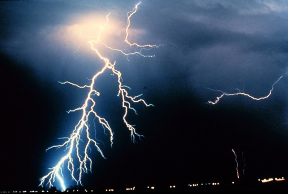 Negative Cloud to Ground Lightning.  Credit: NOAA