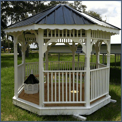 Weatherking Private Storage Backyard Decor Gazebo