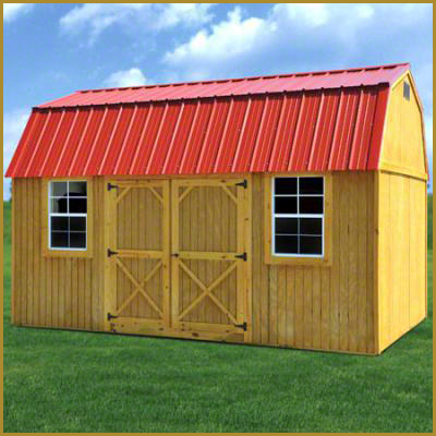 Side Lofted Barn With Metal Roof