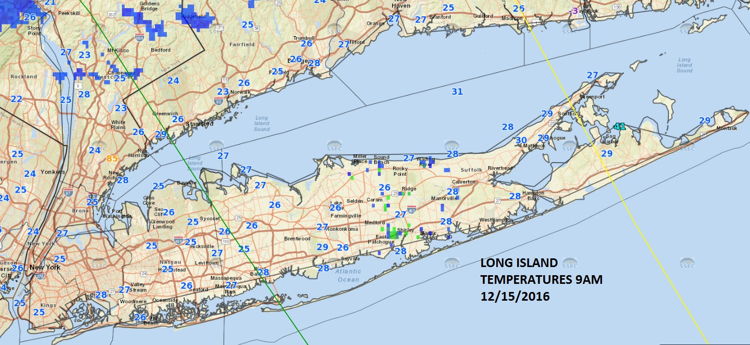 Frigid Temperatures Snow Long Island Weather - Weather Long