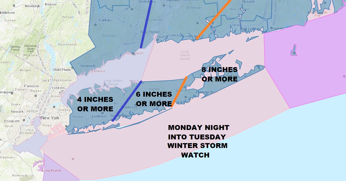 Winter Storm Watch Long Island National Weather Service Snow