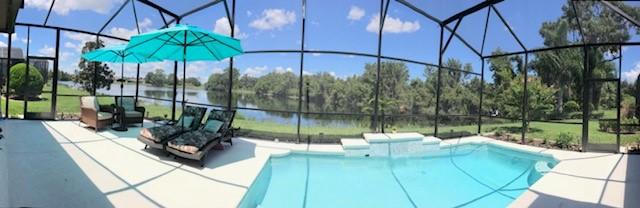 Pool & Lake View 081818
