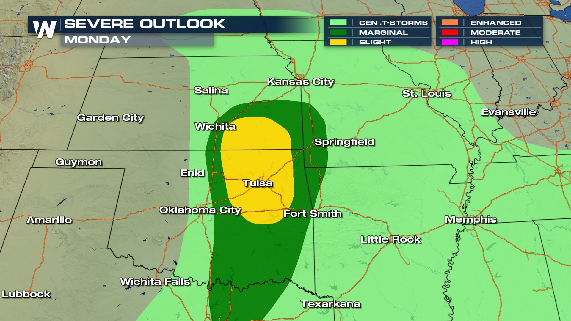 Severe Weather Chances Monday For Parts Of Oklahoma And