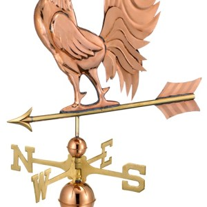 Hand Crafted Crowing Rooster Weathervane -0