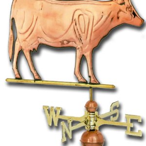 Cow Copper Weathervane-0