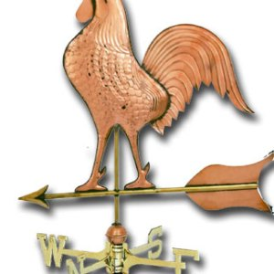 Jumbo Rooster Copper Weathervane-0