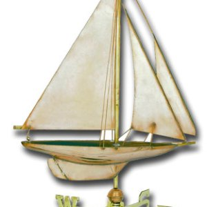 Sailing Yacht Copper Weathervane-0