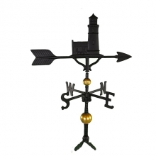 """Old Barn Rustic Co. 32"""" Deluxe Cottage Lighthouse Aluminum Weathervane-0"""