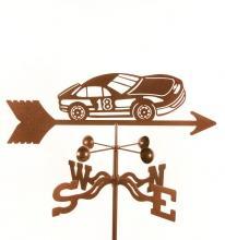 Race Car # 18 Weathervane-0