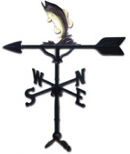 "32"" Bass Aluminum Weather Vane-0"