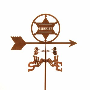 Sheriff 6 Point Badge Weathervane-0