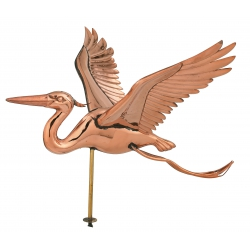 Ornate Copper Heron Rooftop Weathervane-0