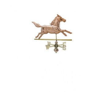Running Horse Copper Weathervane -0