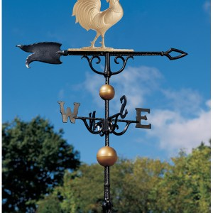 46 inch Rooster Full Bodied Weathervane -0