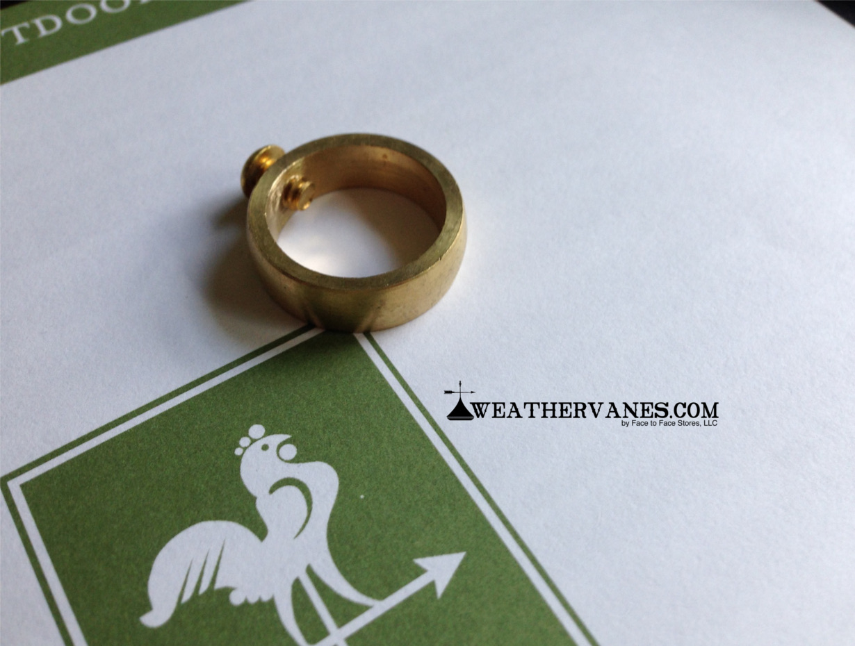 """Lot of 3 Weathervane Brass Retainer Ring with Set Screw for 3//4/"""" Rods"""