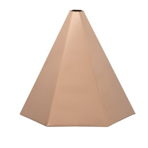 Hexagon Polished Copper Finial Cap -0